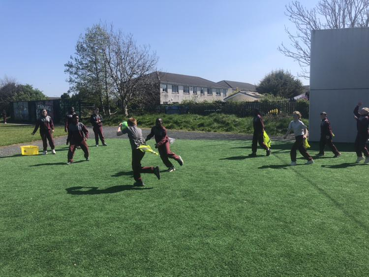 Tag Rugby in Ms Kenny's 4th Class