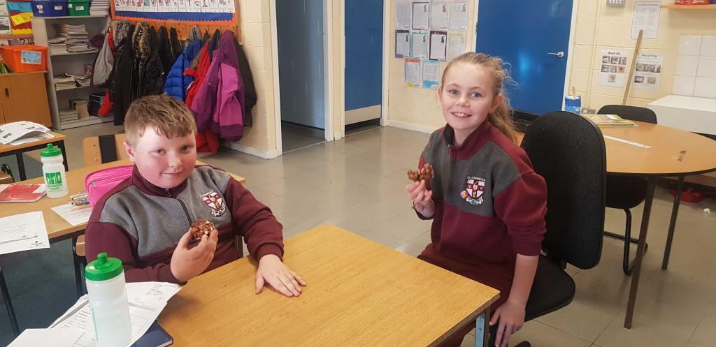 Making Rocky Road in 6th class