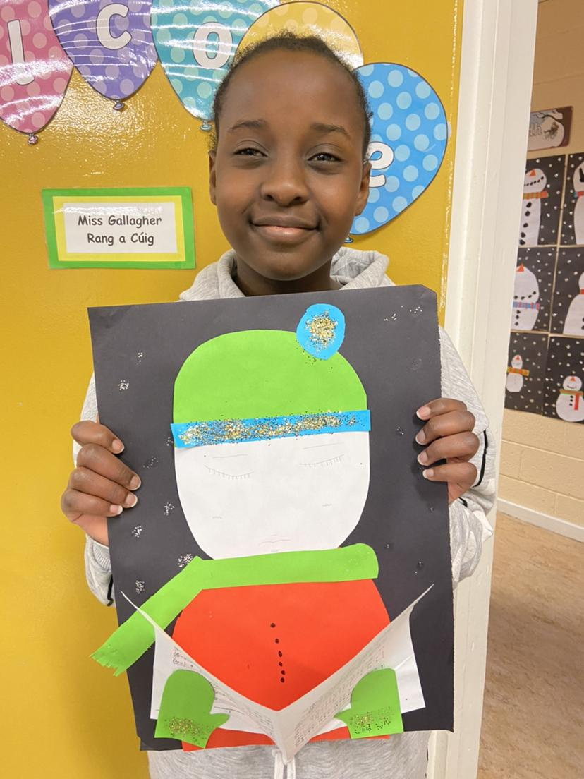 Ms. Gallagher's 5th Class have been busy doing some Christmas Art!