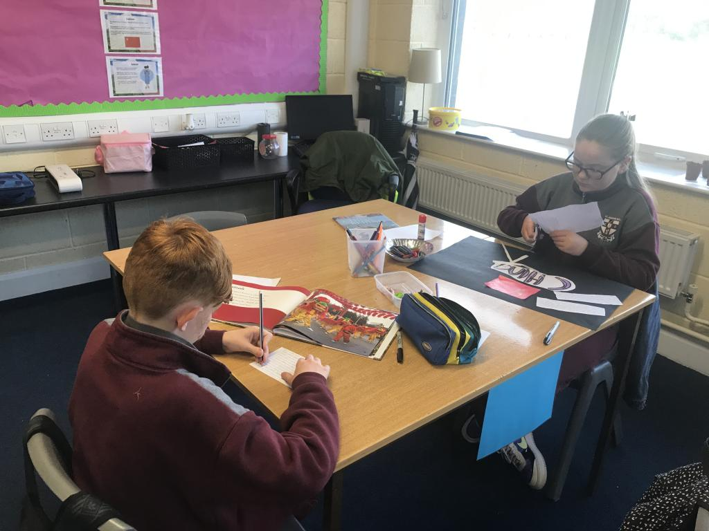 Ms Clingan's 6th class are working hard on their China Projects