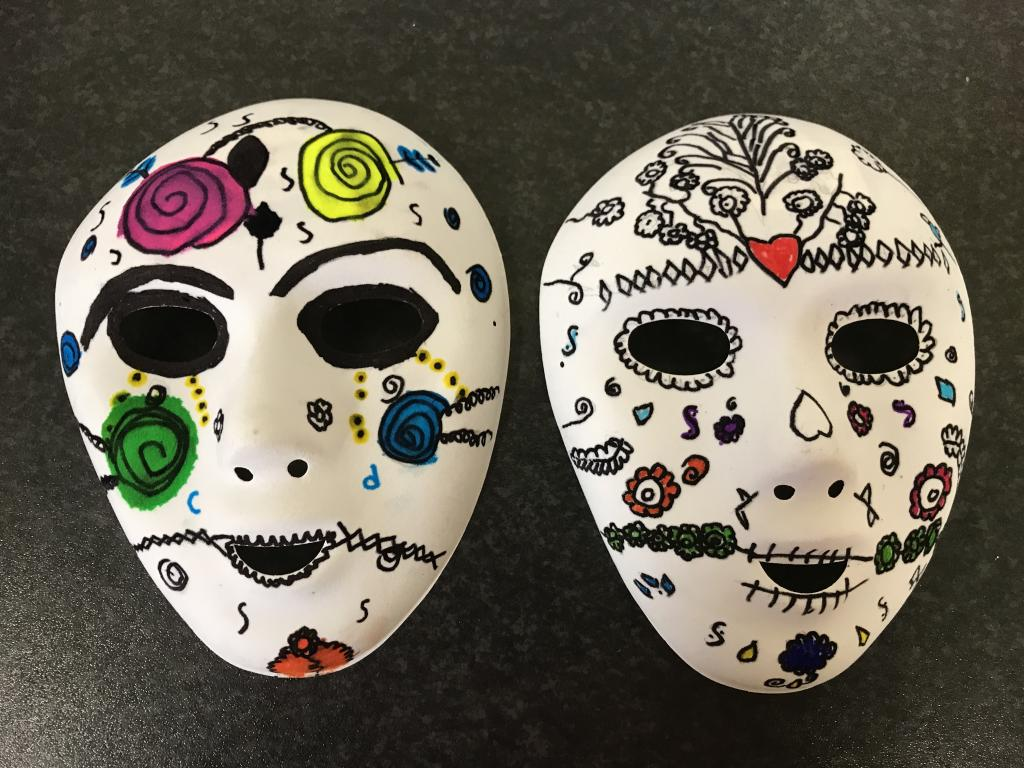 Day of the Dead Masks in Ms Clingan's 6th Class