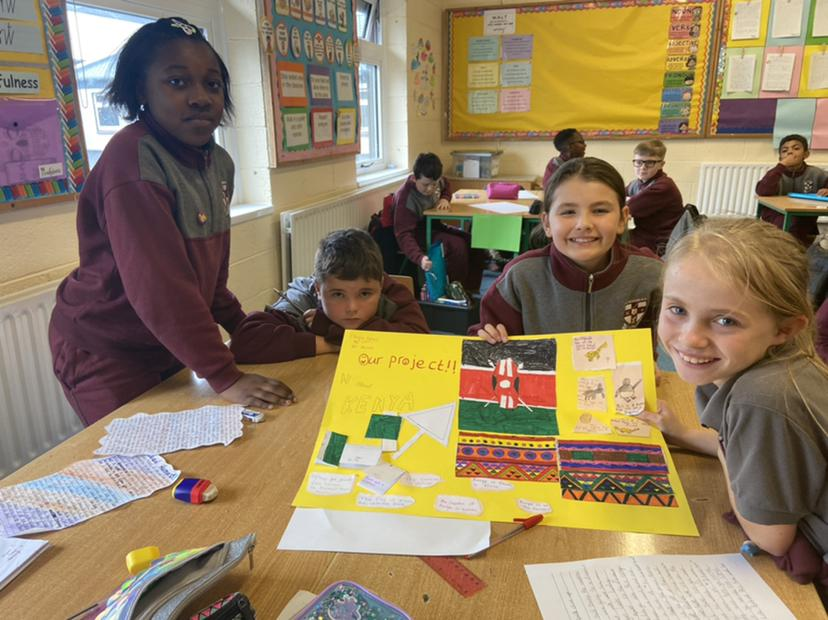 Learning about Kenya in Room 16
