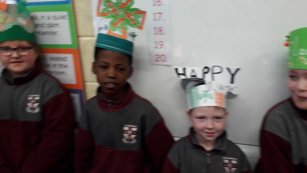 Well done to all the St Patrick's Day hat competition winners - and thanks to Ms Hayes for hosting the Paddy's Day bash!