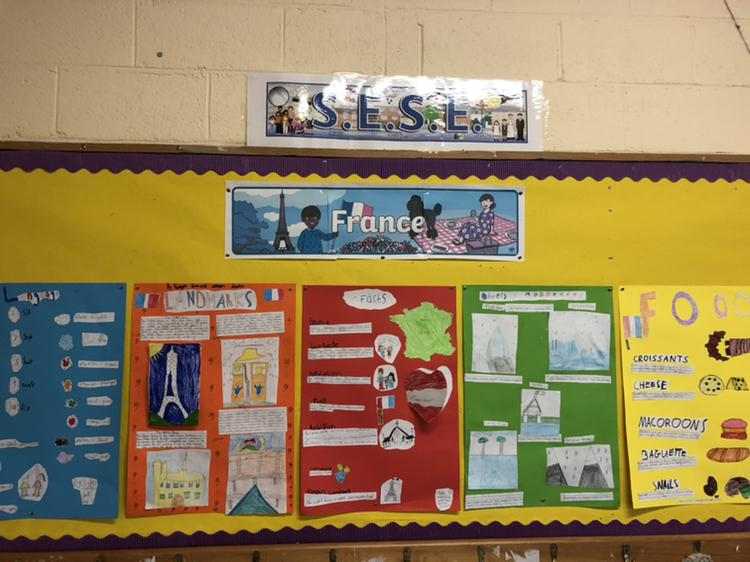 France Projects in Ms. Kenny's 4th Class