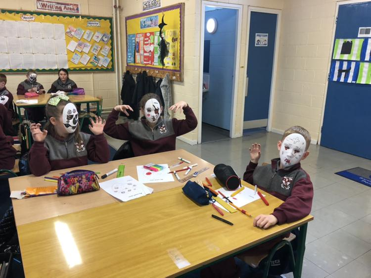 Masks in Ms Kenny's Room 4