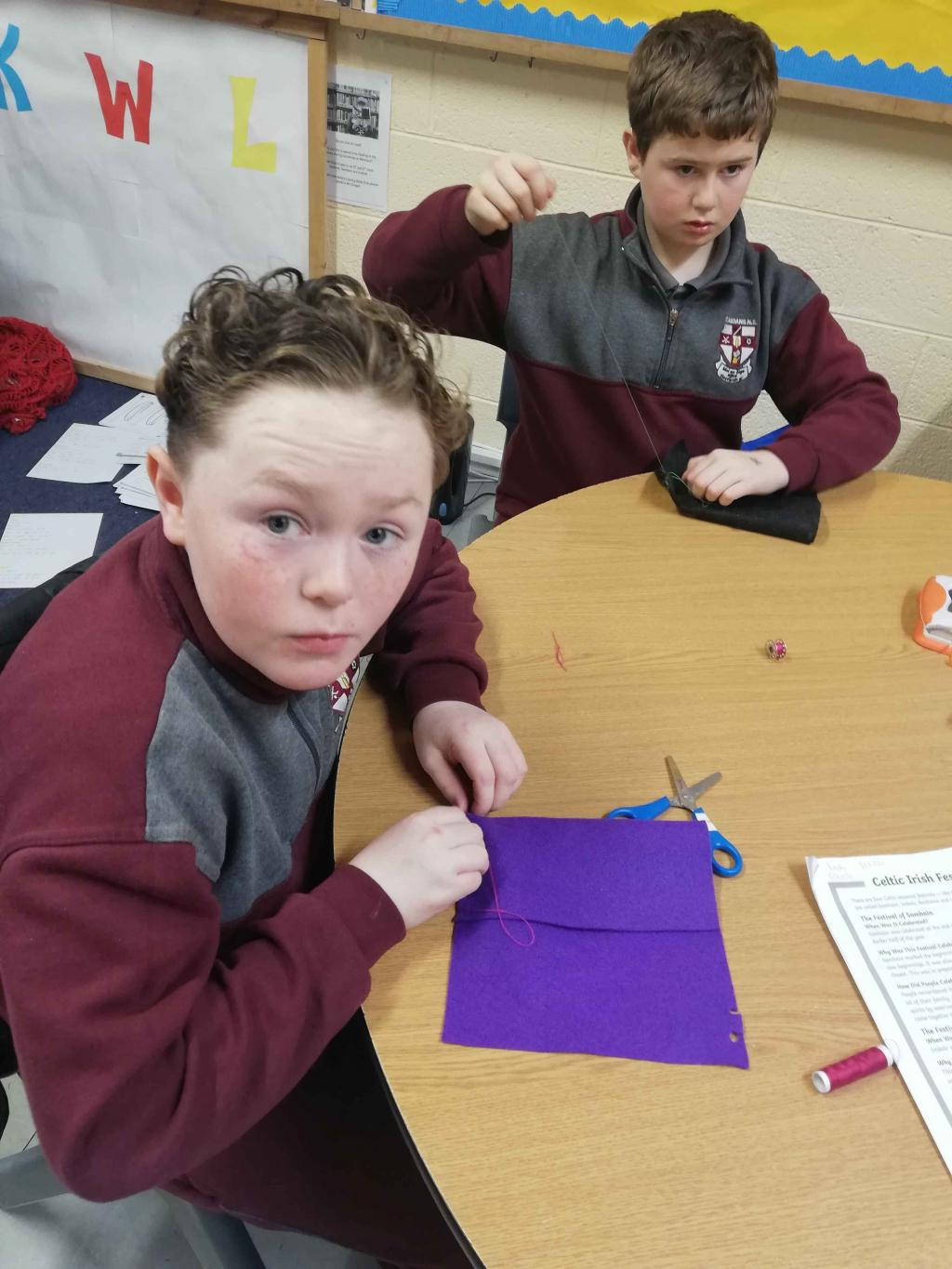 Knitting and Sewing 6th Class