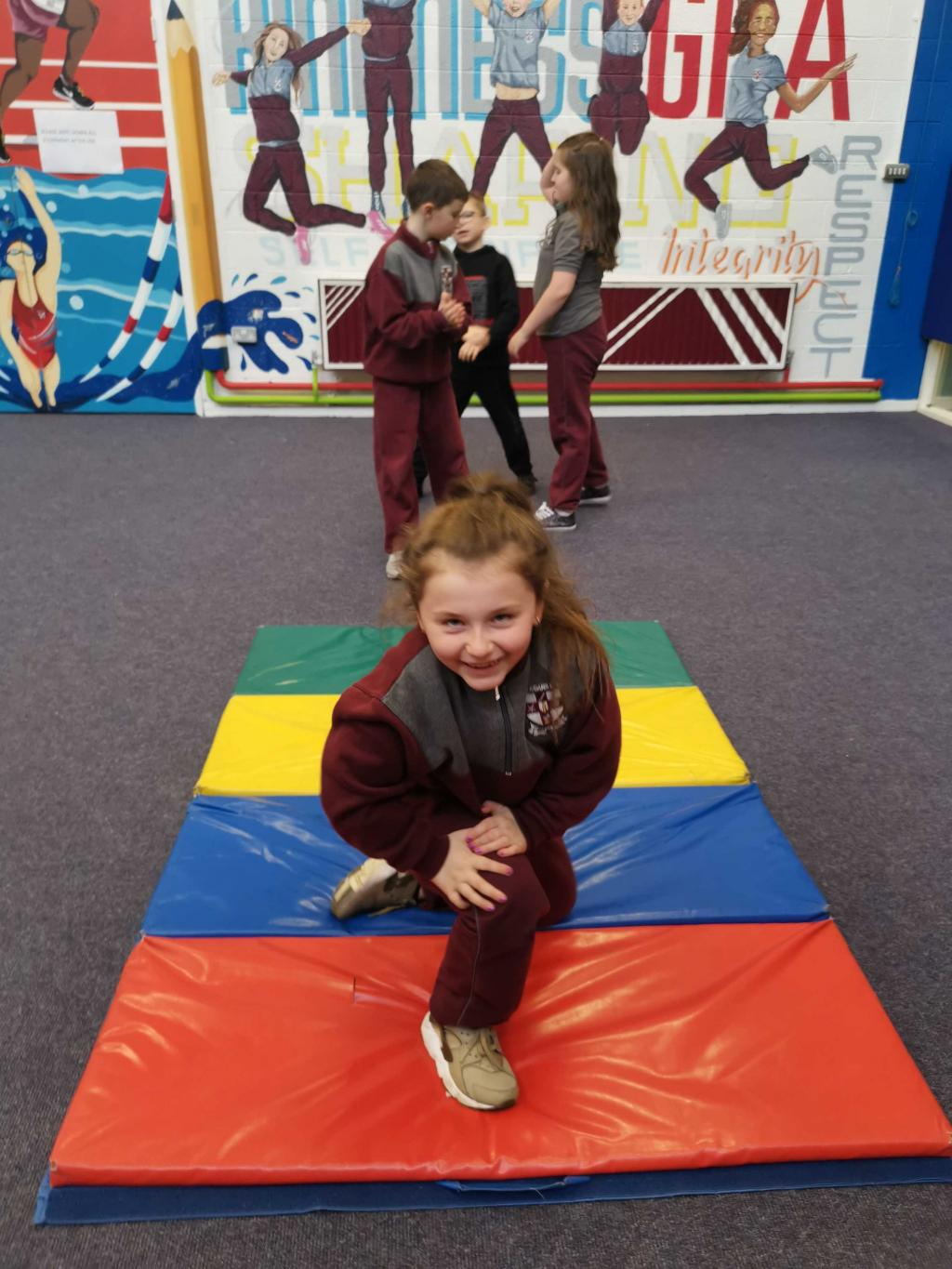 Action shots from Gymnastics in Ms. Geraghty's class!