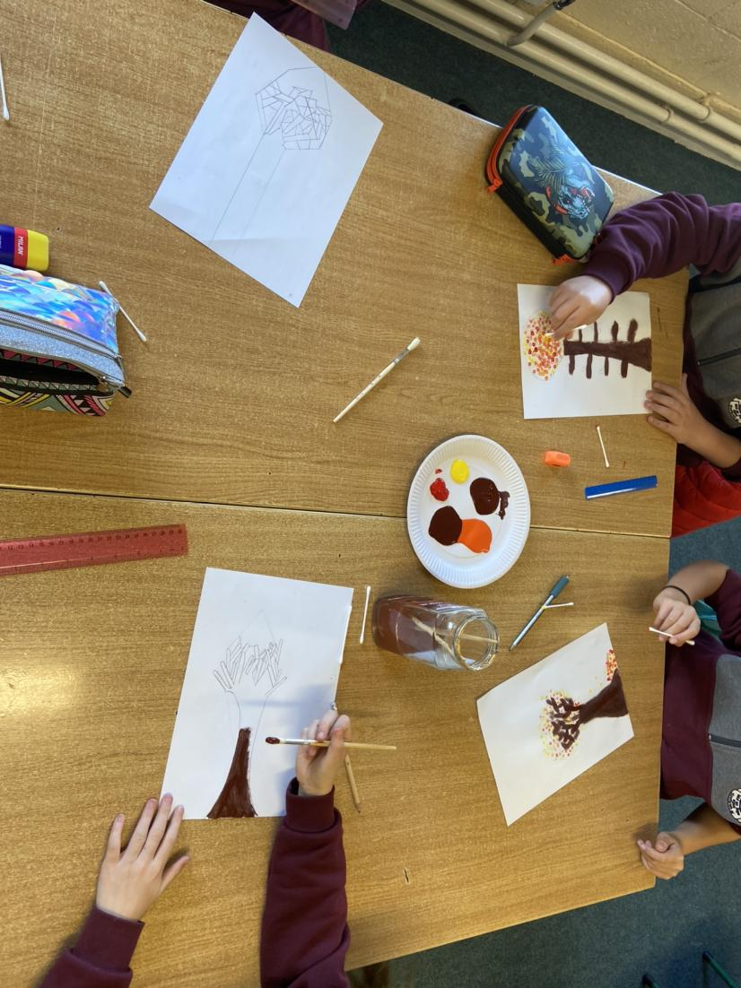 Autumn Art in 5th Class
