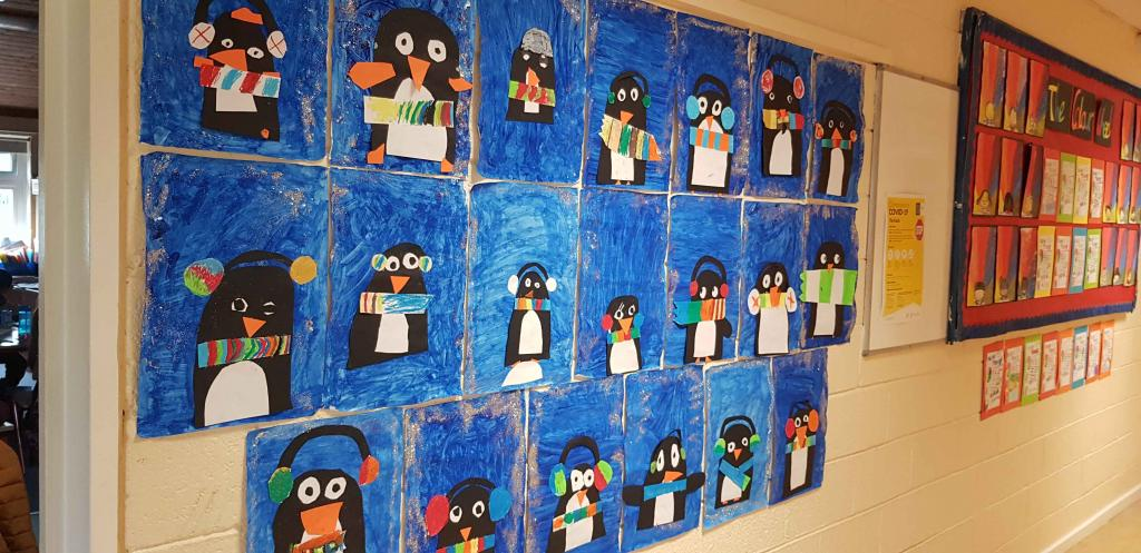 Some Winter Art in 3rd Class