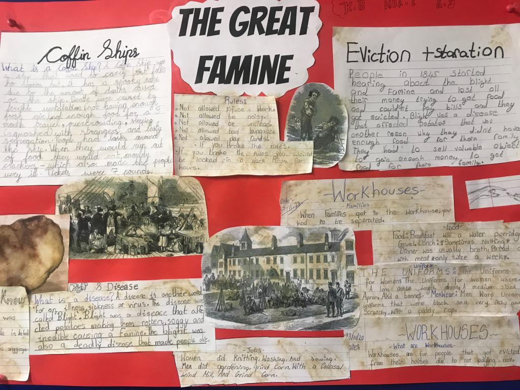 The Great Irish Famine - 5th Class